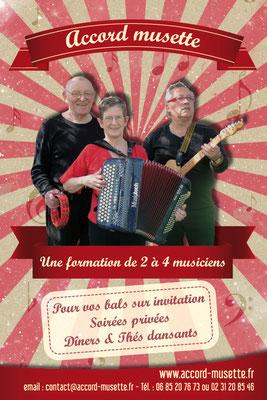 Flyer format carte postale pour un groupe de musiciens