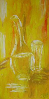 Gelbe Flaschen