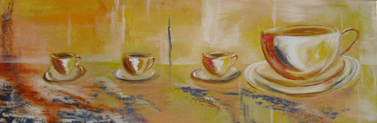 Vier Tassen