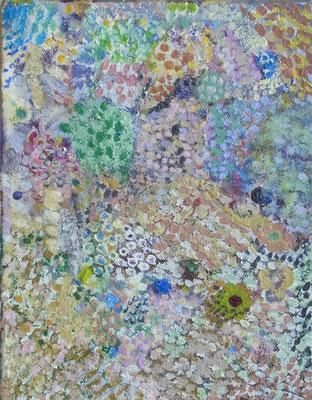 ぶどうえん, 18x14cm, oil on canvas