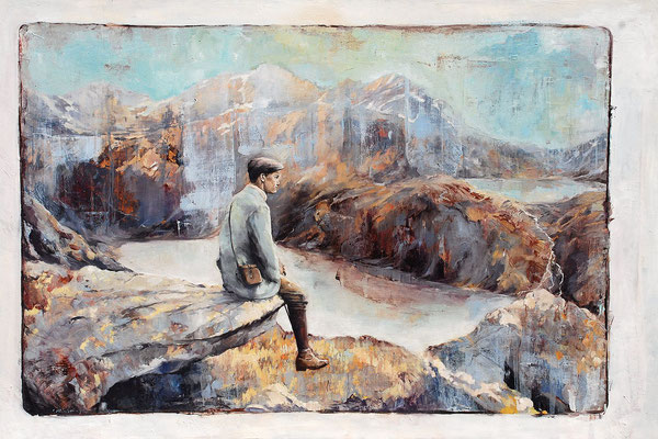 Eins, 2015, Öl auf Leinwand, 80 x 120 cm