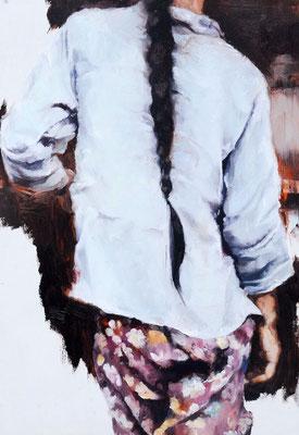 Flow_er, 2019, Öl auf Holz, 35 x 25 cm