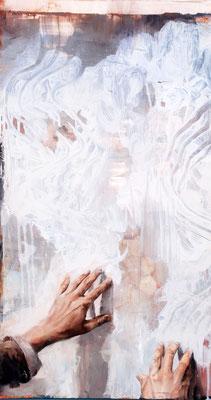 Free Ride, 2019, Öl auf MDF, 70 x 39 cm