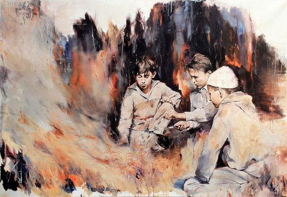 Der große Zauber, 2019/20, Öl auf Leinwand, 110 x 160 cm