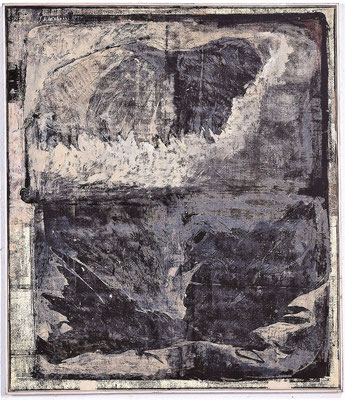 Ikarus, 2000, Monotypie / Öl auf Leinwand, 110 x 95 cm