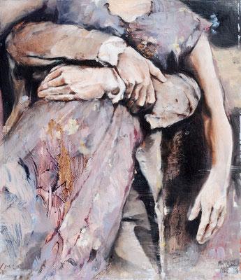 Paar, 2019, Öl auf Holz, 30 x 26 cm