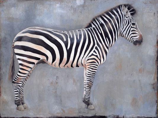 Zebra II, 2011, Öl auf Leinwand, 115 x 150 cm