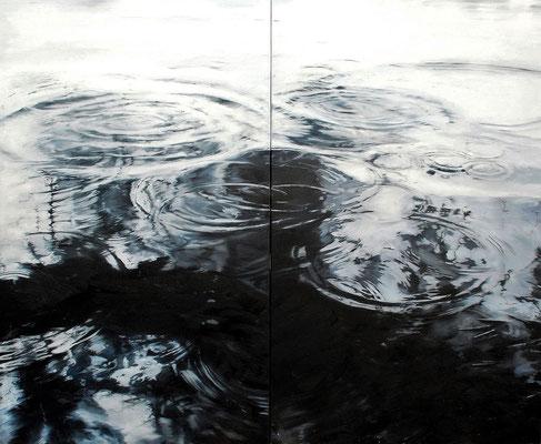 Circles No. 4, 2017, Öl auf Leinwand, zweiteilig, 180 x 220 cm,