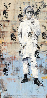 Revolutionary kind, 2015, Öl /Lack auf Leinwand, 160 x 80 cm
