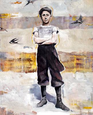 King of swallows, 2019, Öl auf Leinwand, 110 x 90 cm