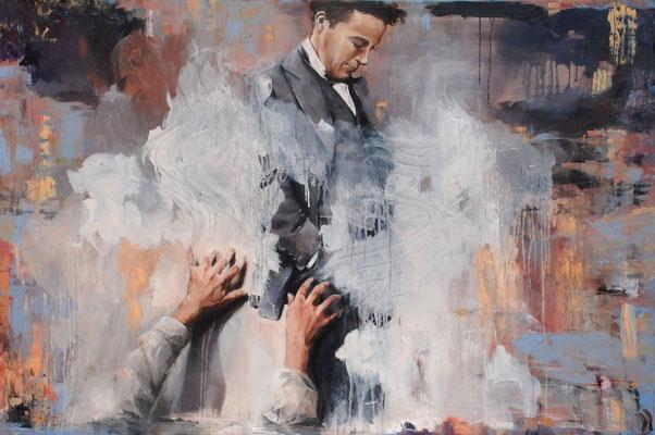 Free Ride II, 2019, Öl auf Leinwand, 100 x 160 cm