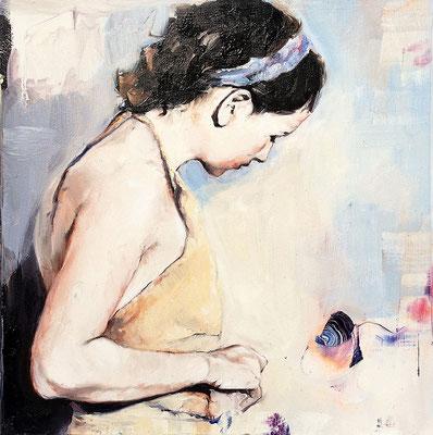 Ling, 2017, Öl auf MDF, 25 x 25 cm