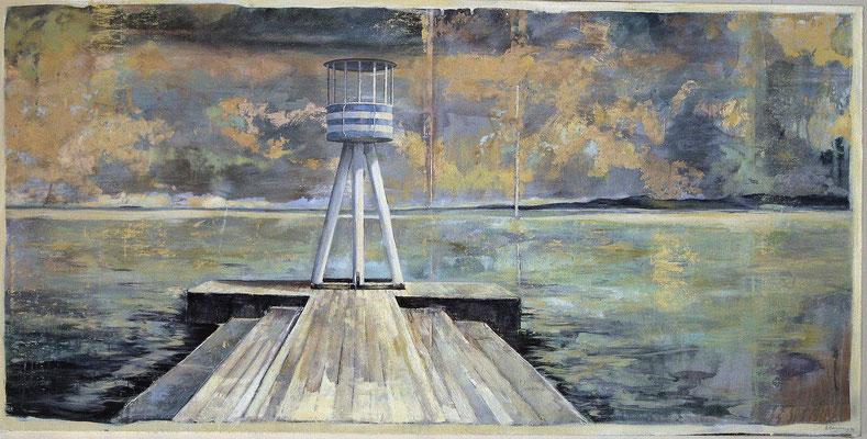 Der Turm, 2009, Öl auf Leinwand, 100 x 200 cm