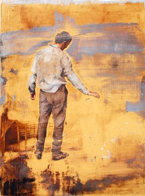 Erdung, 2018, Öl auf Holz, 43 x 33 cm