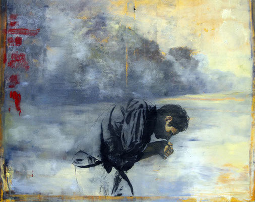 Am Fluß, 2005, Öl auf Leinwand, 105 x 125 cm