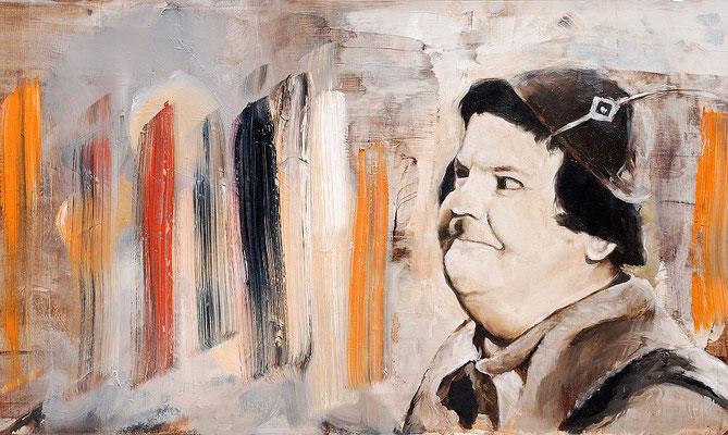 Stan ?!, 2017, Öl auf MDF, 30 x 53 cm