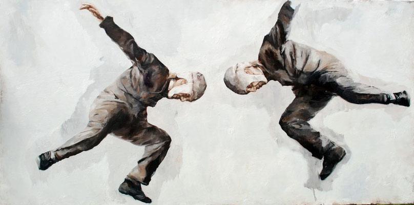 Gedankensprung, 2018, Öl auf Leinwand, 80 x 160cm,