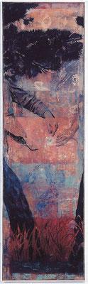Vielleicht ist das gar nicht die Frage, 2003, Öl auf Leinwand, 170 x 50 cm
