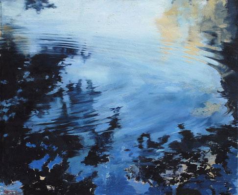 Teich, 2008, Öl auf Leinwand, 100 x 120 cm