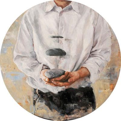 Leicht, 2014, Öl auf MDF, 67 cm,