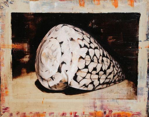Die Muschel II, 2014, Öl auf Leinwand, 80 x 100 cm