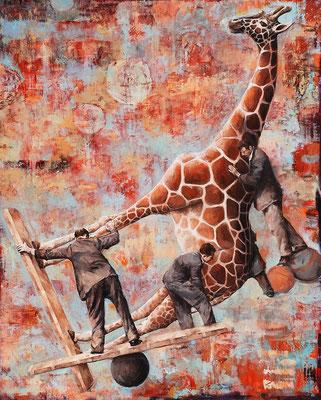 Das Maß der Dinge II, 2013, Öl auf Leinwand, 160 x 130 cm,