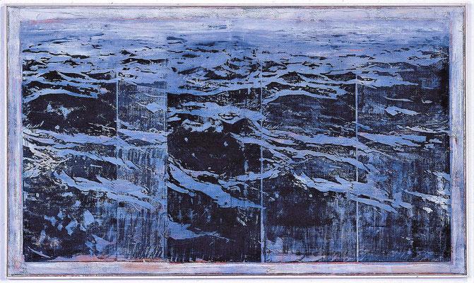 Mare, 2003, Holzschnitt / Öl auf Leinwand, 85 x 145 cm