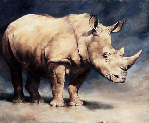 Rhino II, 2020, Öl auf Leinwand, 90 x 110 cm