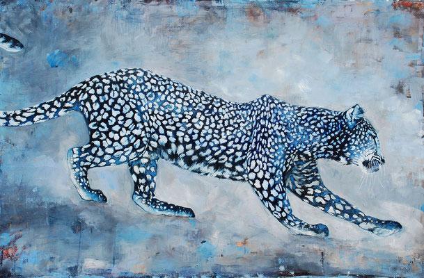 Leopard II, 2015, Öl auf Leinwand, 80 x 120 cm,