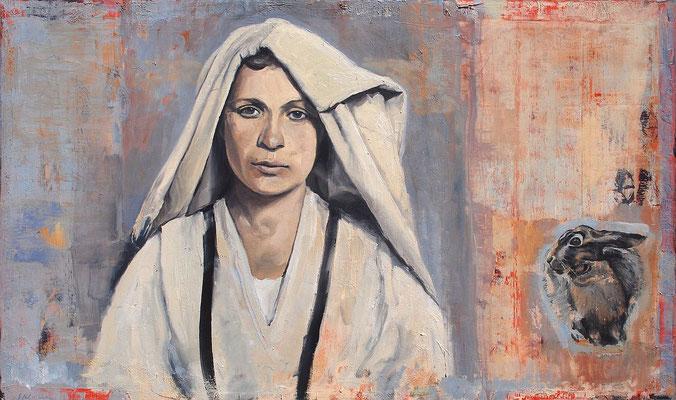 vis-a-vis, 2011, Öl auf Leinwand, 60 x 100 cm