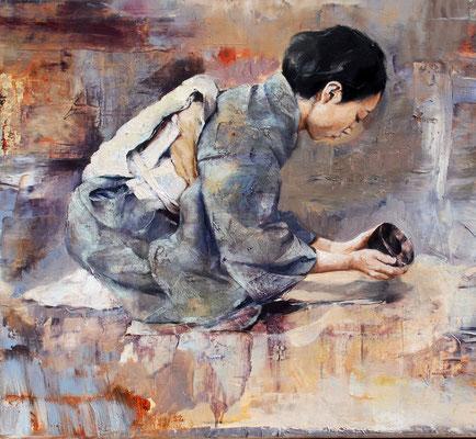 Die Schale, 2019, Öl auf Leinwand, 50 x 55 cm