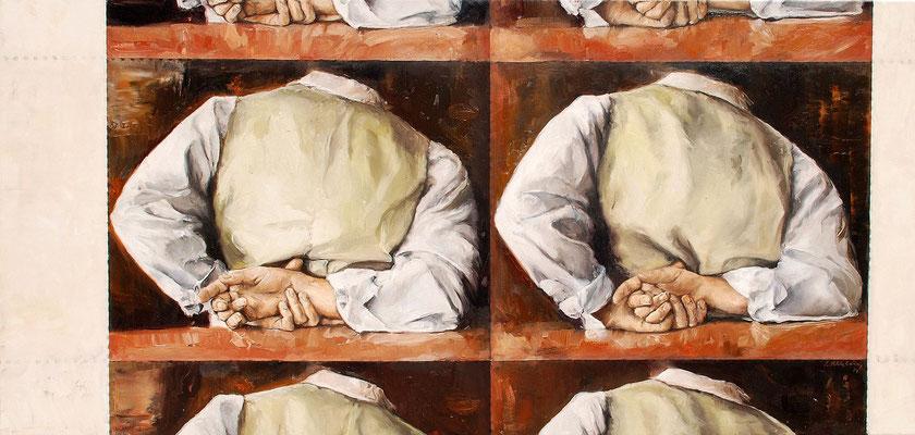 Umkehr II, 2014, Öl auf Leinwand, 60 x 125 cm