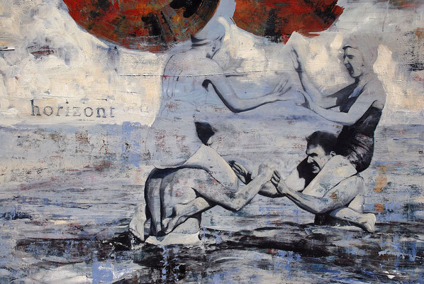 horizont, 2009, Öl auf Leinwand, 100 x 180 cm