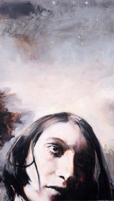 Starlight, 2020, Öl auf Holz, 41,4 x 24,4 cm