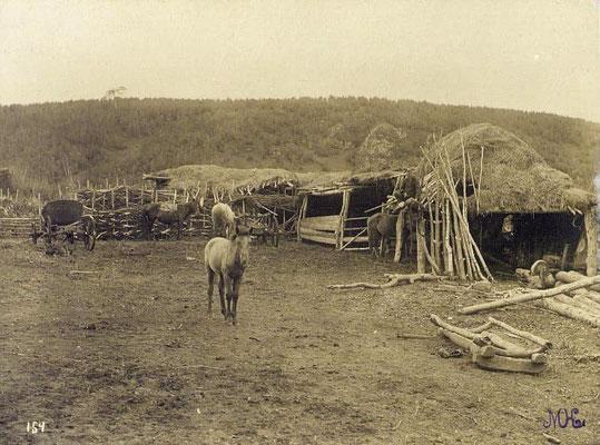Corps de ferme traditionnel bashkir fin 19e