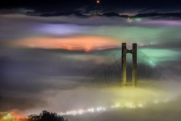 夜霧のパークブリッジV-Ⅰ2017年第32回埼玉の自然 【奨励賞】 埼玉県秩父市