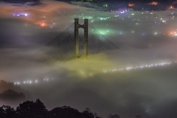 夜霧のパークブリッジV-Ⅱ 第35回「日本の自然」 【入選】 埼玉県秩父市