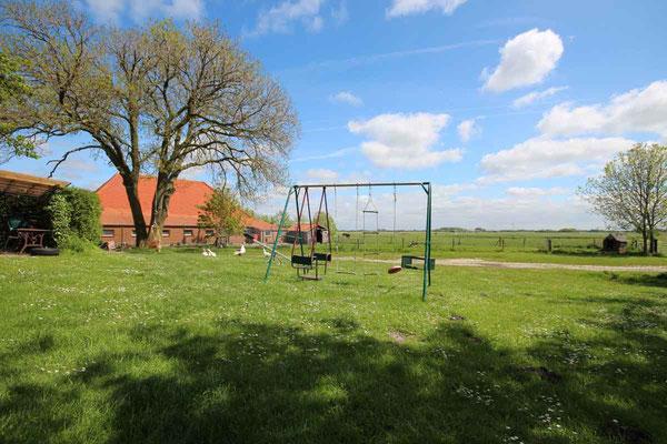 Rund um`s Hofleben auf Oldewurtels Ferienhof - Unsere Kinder-Schaukel