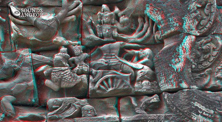 La bataille de Lanka, version anaglyphe. Nécessite des lunettes rouge et bleu pour un rendu en relief.