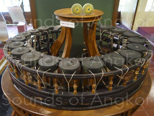 khong wong lek ฆ้องวงเล็ก à 17 gongs du Prince Paribatra. Palais Suan Pakkad, Bangkok.
