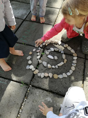 Kinder Land Art Projekt