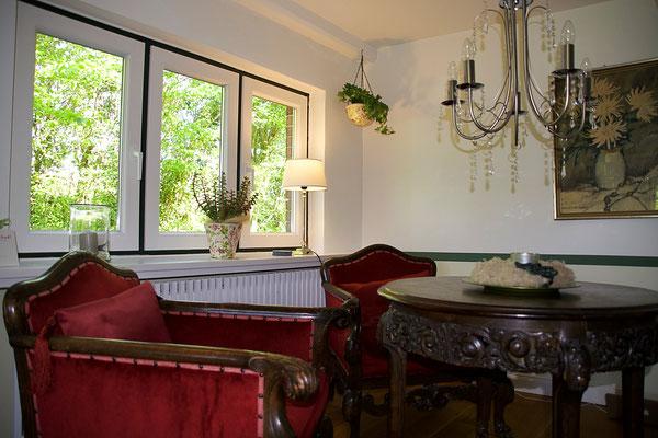 Ferienhaus Alte Deichkate - lässiger Luxus und echtes Landleben direkt an der Nordsee - Kaminzimmer