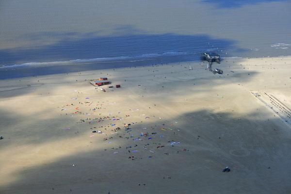 Der Pfahlbau im Ortsteil Sankt Peter-Bad aus der Luft