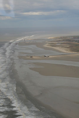Der Strand von Sankt Peter-Ording aus der Luft