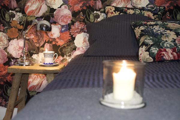 Schlafzimmer auf der 1. Etage der Auszeit am Meer