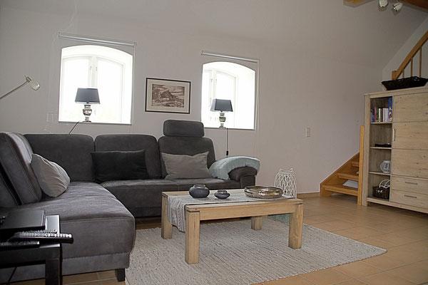 Das Sofa kann als 3. Bett umgebaut werden.