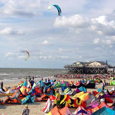 Kite Weltcup am Strand in Sankt Peter-Ording