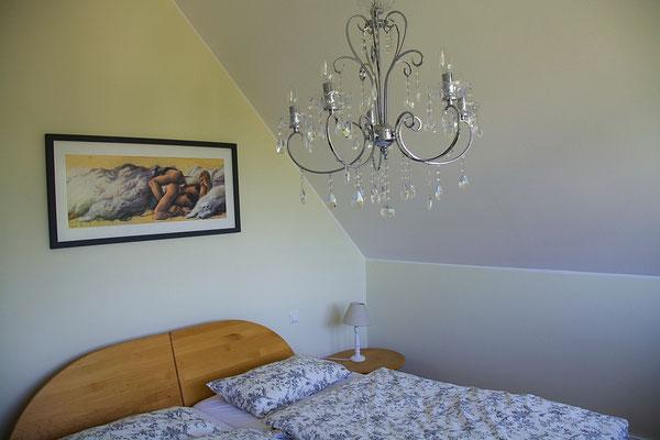 Ferienhaus Auszeit am Meer - lässiger Luxus und echtes Landleben direkt an der Nordsee - Schlafzimmer Nr. 2, 1. Etage