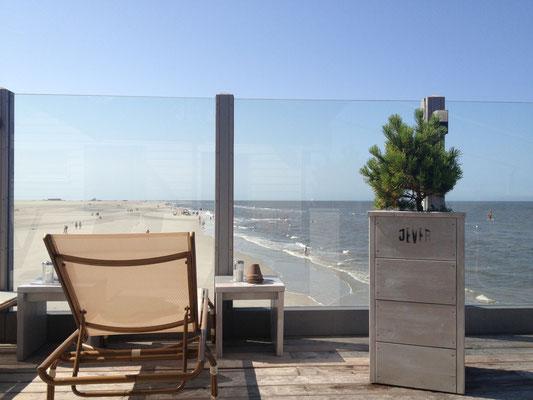 Ferienhaus Alte Deichkate - nicht weit weg am Ordinger Strand - Blick vom Pfahlbau N54°