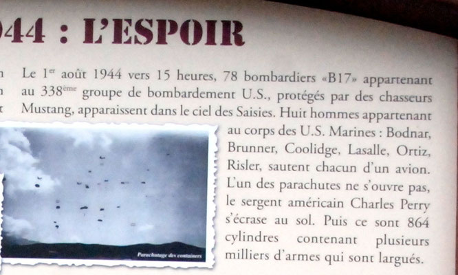 "Rememberance of August 1st, 1944 at ""Les Saisies"""